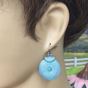 Jewelry - Patina Boho Coin Gong Earrings